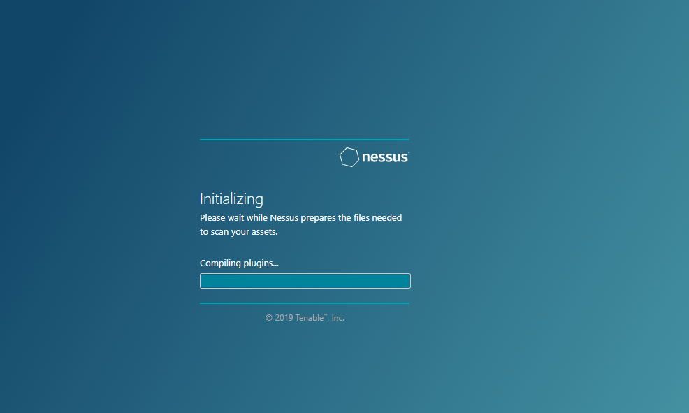 Nessus scanner is stuck in the 'Initializing' process